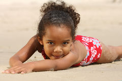 Happy Child on a Beach Royalty Free Stock Photography