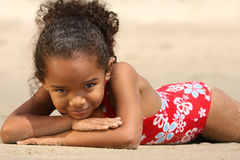 Happy Child on a Beach Stock Photography