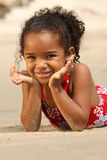 Happy Child on a Beach Stock Photos