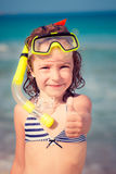 Happy child on the beach Stock Photography
