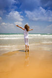 Happy child at the beach Royalty Free Stock Images