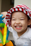 Happy child with a big smile :) stock photos