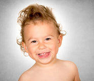 Happy child with big smile Stock Photo