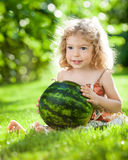 Child with watermelon Royalty Free Stock Images