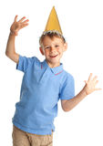 Happy child in the cap Royalty Free Stock Photography