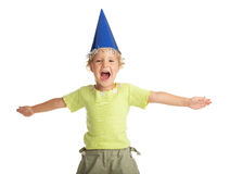 Happy child in the cap Stock Image