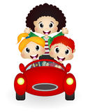 Happy Child on a car Royalty Free Stock Images