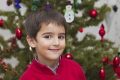 Happy child on Christmas Stock Photos
