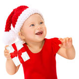 Happy child with Christmas gift Royalty Free Stock Photo