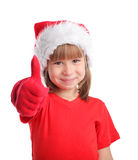 Happy child in christmas hat Royalty Free Stock Images