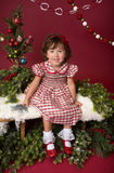 Happy Child in Christmas Outfit, Winter Setup Royalty Free Stock Photos
