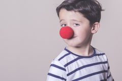 Happy child. With clown nose Stock Photos
