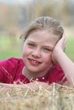 Happy child in countryside Royalty Free Stock Photos