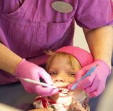 Happy child at dentist Royalty Free Stock Image