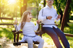 Happy child with down syndrome Royalty Free Stock Image