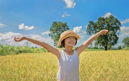 Happy child in field. Stock Images