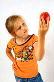 Happy Child with a fruit Royalty Free Stock Photography