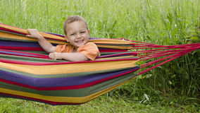 Happy child  in garden Royalty Free Stock Images