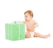 Happy child with gift box Stock Image