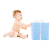 Happy child with gift box Stock Photography