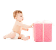 Happy child with gift box Stock Photo