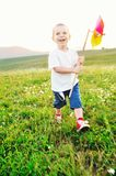 Happy child have fun outdoor Royalty Free Stock Image