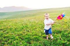 Happy child have fun outdoor Royalty Free Stock Photography