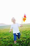 Happy child have fun outdoor Stock Photography