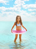 Happy child having fun bathing Royalty Free Stock Image