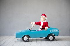 Happy child having fun on Christmas time stock photography