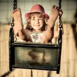 Happy child having fun Royalty Free Stock Image