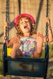 Happy child having fun Stock Photos