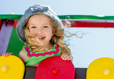 Happy child having fun Royalty Free Stock Photo