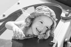 Happy child having fun Stock Images