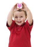 Happy child with heart Stock Photography