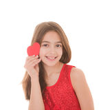 Happy child with heart. Happy child with red heart Royalty Free Stock Image