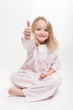 Happy child in her pajamas Royalty Free Stock Photography