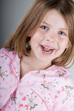 Happy Child in her Pyjamas Stock Photography