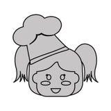 Happy child icon image. Girl happy child with chef hat icon image  illustration design Stock Photography