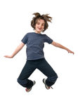 Happy child jumping Stock Photo