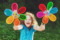 Happy child leisure in summer outdoor. Stock Photography