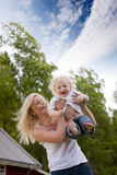 Happy Child with Mother Royalty Free Stock Image