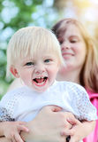 Happy Child with Mother Stock Photos