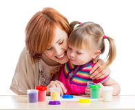 Happy child and mother play Royalty Free Stock Image