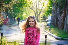 Happy child in nature 2017 Royalty Free Stock Photography