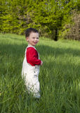 Happy child outdoors Royalty Free Stock Images