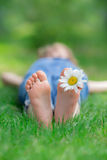 Happy child outdoors Stock Image