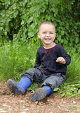 Happy child outdoors stock images