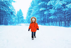 Happy child outdoors in winter Royalty Free Stock Photo