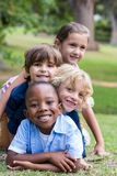 Happy child in the park together Stock Photo